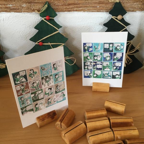 Kartenstaender aus Holz