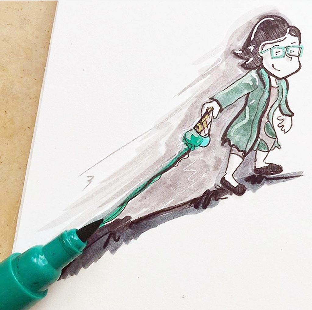Illustration vom kleinen Wahnsinn